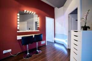 Zona de maquillaje - Centro de Belleza Elixir